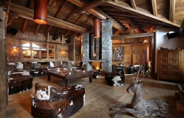 mueblos cuero vaca estilo rustico amplio