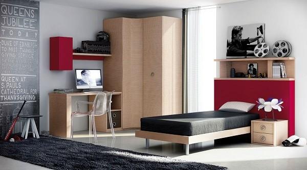 Muebles juveniles para dormitorios de adolescentes for Dormitorios juveniles para hombres