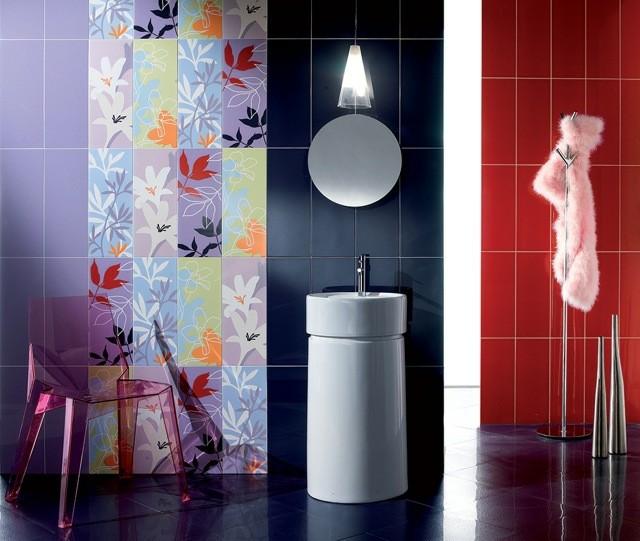 multicolor flores silla moderno espejo