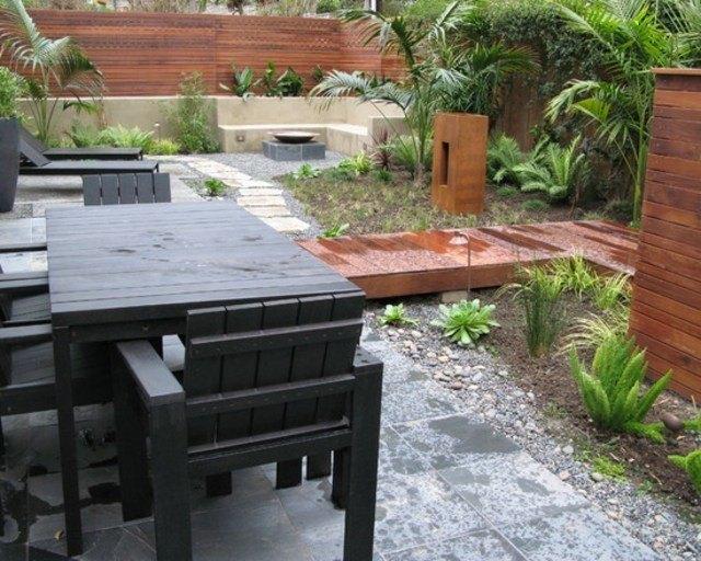 muro madera patio jardin muebles