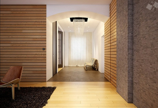 muros modernos con tablas de madera