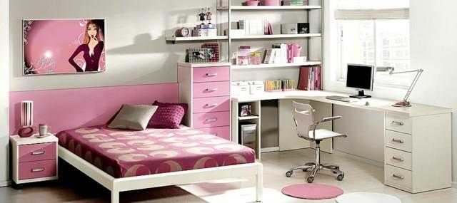 Habitaciones juveniles para chicas adolescentes - Habitaciones juveniles blancas ...