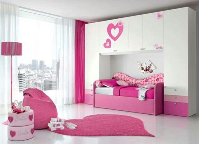 niñas cuarto moderno unico armario
