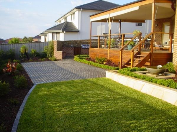 paisaje bonito minimalista simple jardin porche