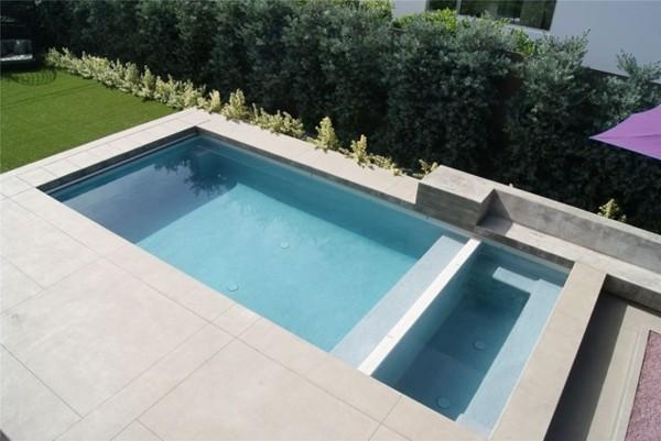 paisaje bonito piscina estilo moderno cesped
