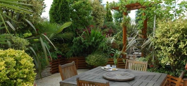 Paisajes naturales en el jard n del itese con las vistas - Decorer terrasse avec plantes ...