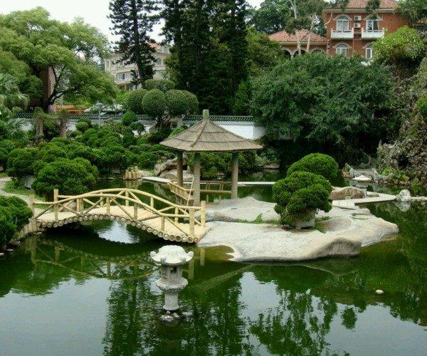 paisajes naturales patio lago estanque