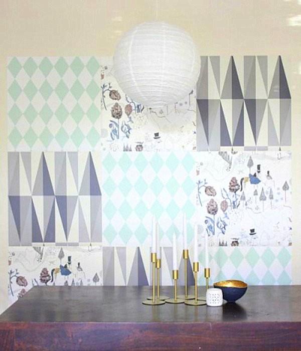 paneles decorativos papel formas geometricas