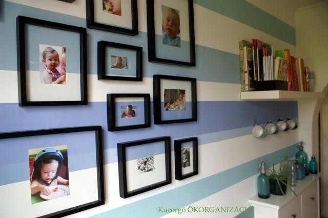 papel pared rayas azules horizontales gruesas