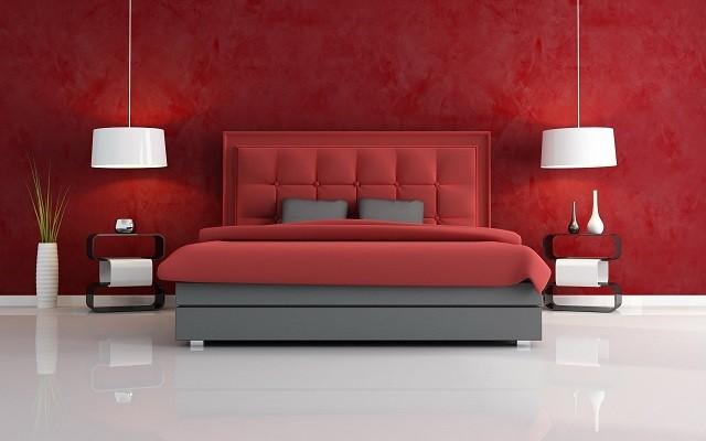papel-rojo-pared-salon