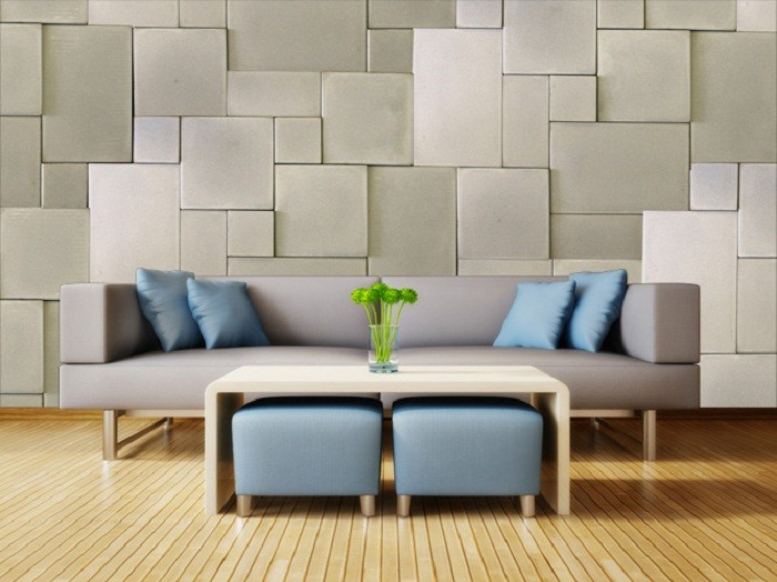 Paredes modernas y contempor neas para tu hogar - Paredes modernas para interiores ...