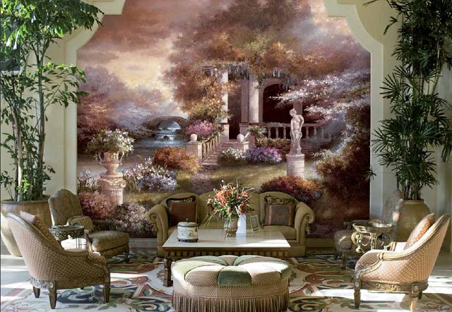 pared muro clásico precioso papel