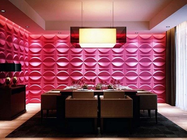 pared rosa relieves comedor labios