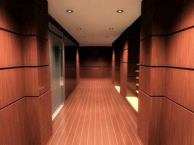 paredes madera pasillo parquet lujoso
