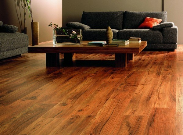 parquet madera suelo salón naranja