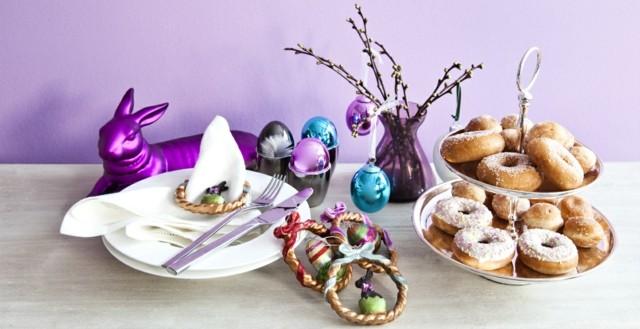 pascua conejo centro cubiertos decoracion
