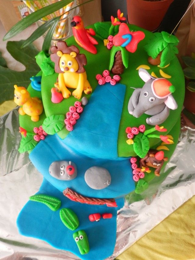 pasteles de cumpleaos animales zoologico selva