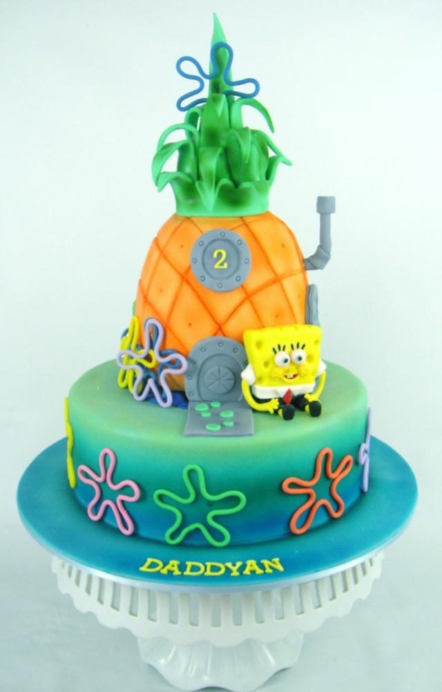 pasteles de cumpleaos bob esponja decoracion