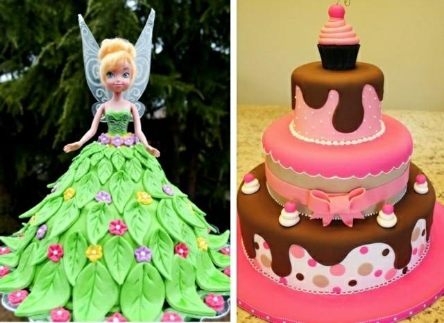 pasteles de cumpleaos campanita vestido fiesta nias