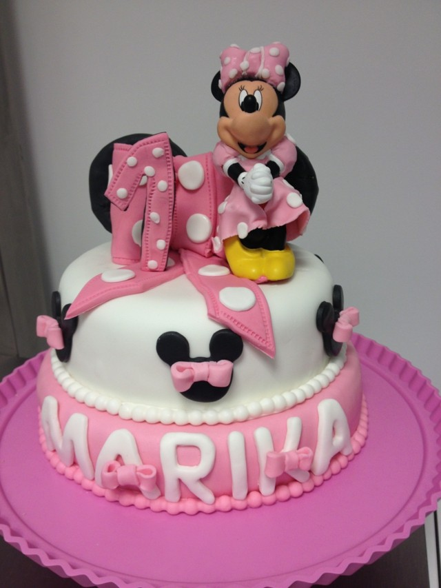 pasteles de cumpleaos disney minnie rosa fiesta