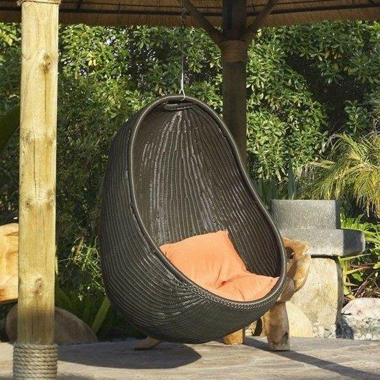 patio cojines mimbre columpio silla almohada