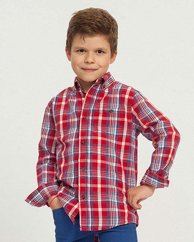 peinado camisa cuadros nene roja