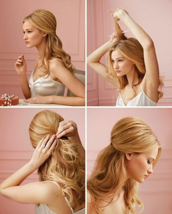 Прически для дома на длинные волосы поэтапно