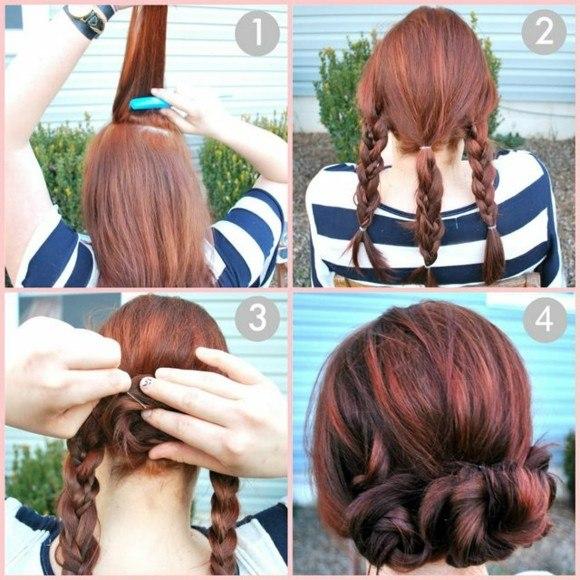 peinado rapido facil trenzas pelo idea bonita