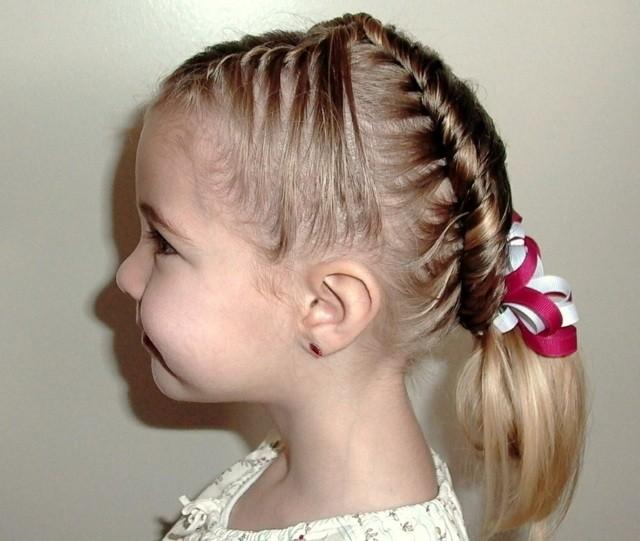 peinado rizado facil niña fiestas lazos