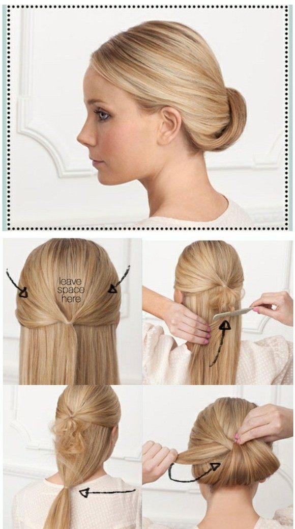 peinados faciles bonitos pelo largo