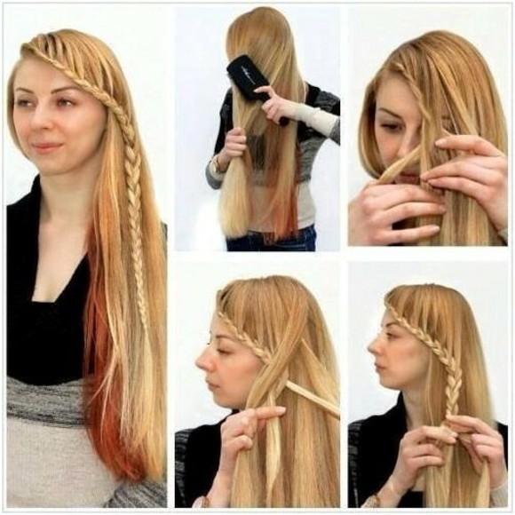 peinados faciles elegante idea pelo largo