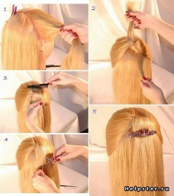 peinados faciles muy bonito pelo largo idea