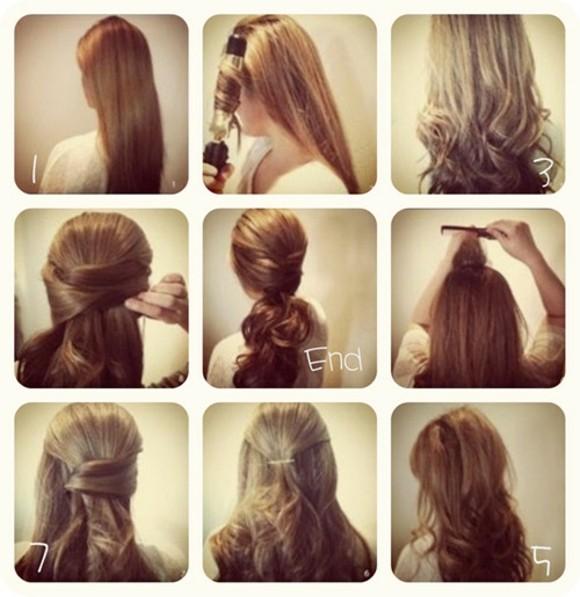 peinados faciles volumen pelo rizado bonito