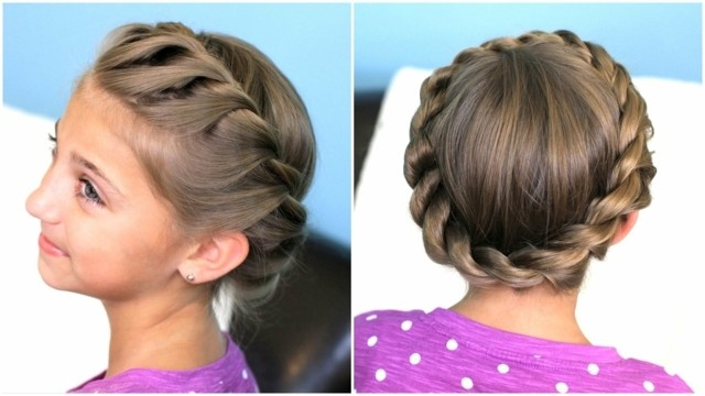 peinados para niñas circular corona circular