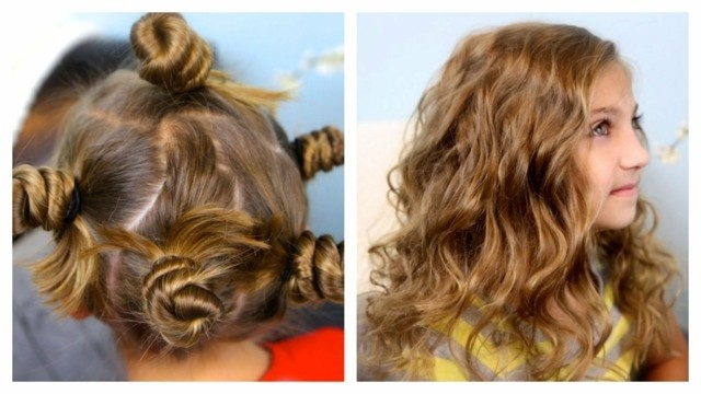 peinados para niñas ondulado suelto eventos