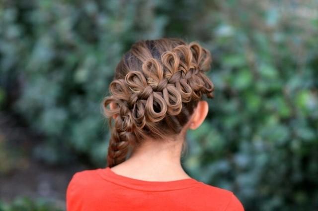 peinados para niñas trenza anudada creativo