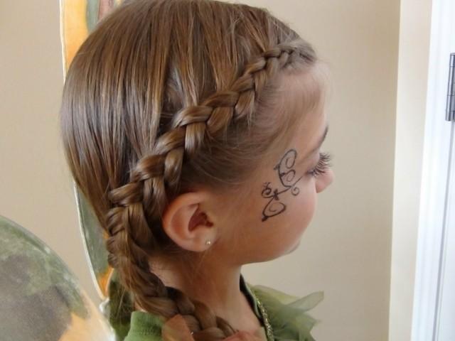 peinados para nias trenza faciles fiesta