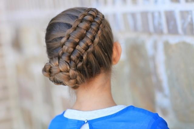 peinados para niñas trenza recogido anudado
