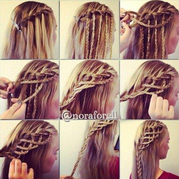 peinados rapido trenzas interesante idea pelo largo bonito femenino - Trenzas Pelo Largo
