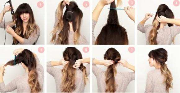 peinados rapidos estilo distinto largo pelo interesante