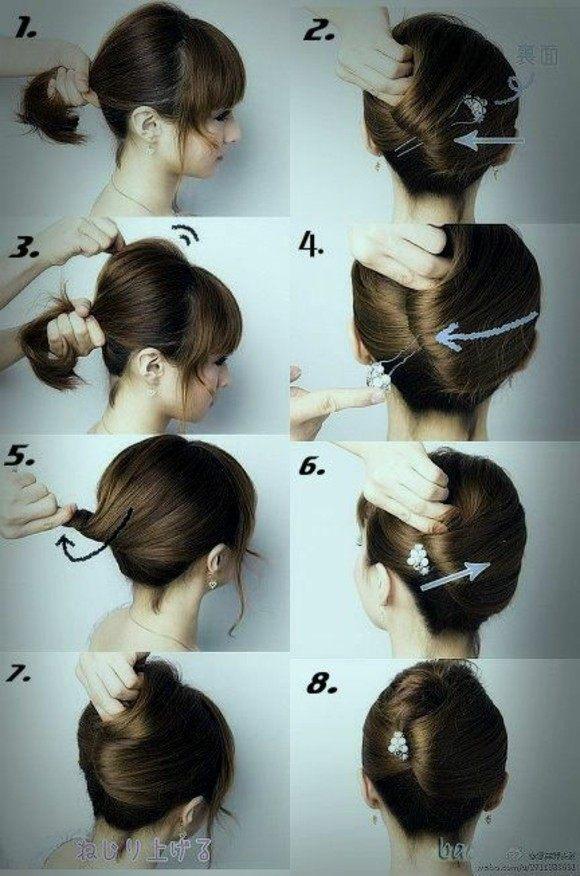 peinados rapidos facil pelo corto