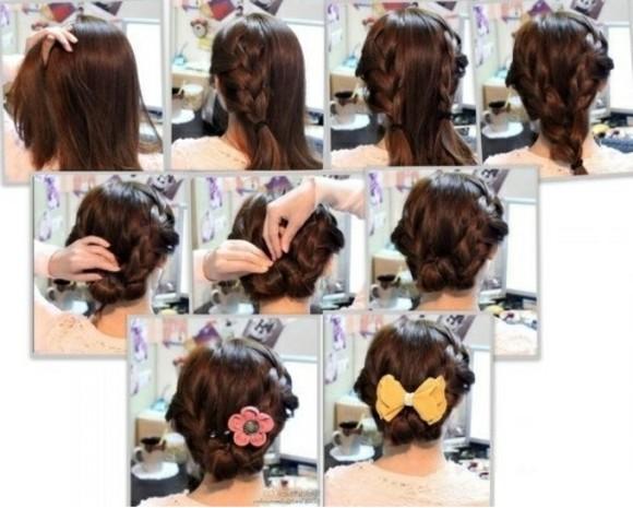 peinados rapidos faciles bonitos pelo lazo