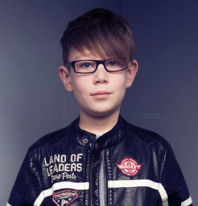 pelado peinado niño gafas flequillo