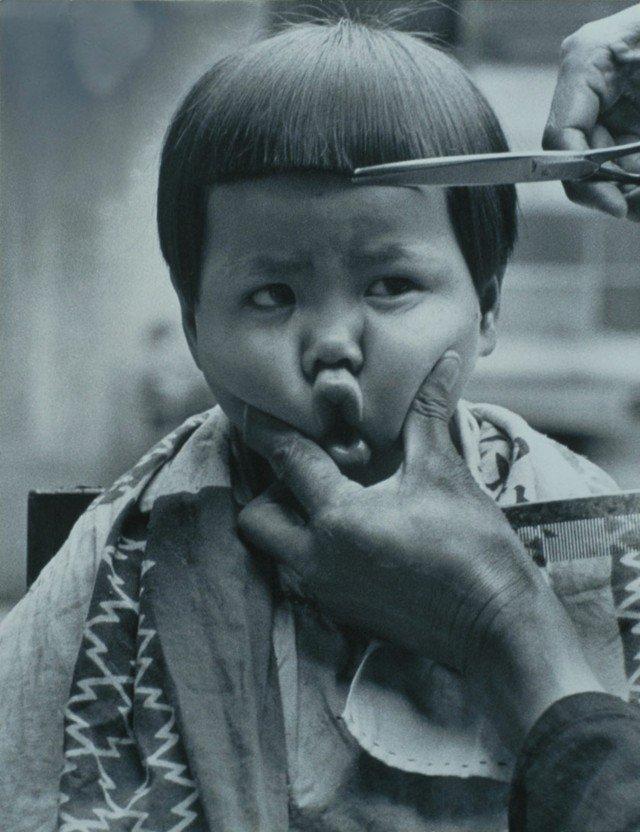 pelado recto niño japonés peluquería