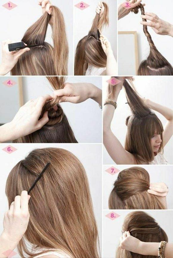 Peinados Rapidos Y Faciles Para Cualquier Ocasion - Peinado-facil-pelo-largo