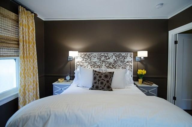 pequeña habitacion colores decoracion textiles
