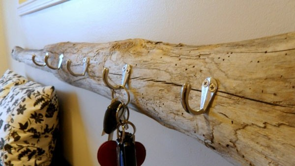 perchero madera de deriva llaves