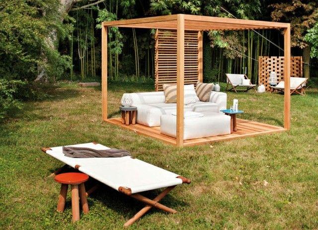 pergola jardin lugar sombra perfecro familia descanso verano bonita