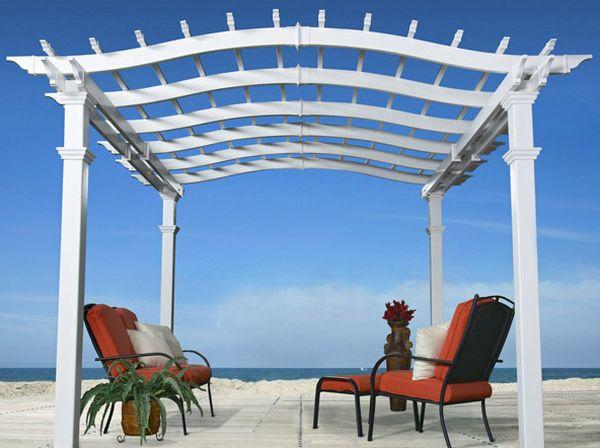 pérgolas de madera playa asientos acolchonado