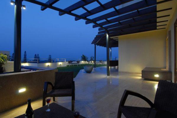 pérgolas de madera terraza luces mobiliario